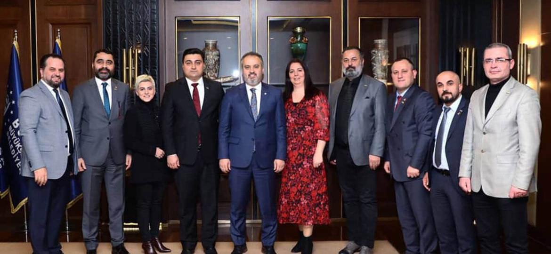 TRKTYD Derneği ile Bursa Büyükşehir Belediye Başkanı Sn. Alinur Aktaş'ı makamında ziyaret ettik